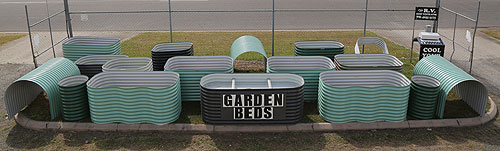 Raised Corrugated Iron Garden Beds Manufactured by Andys