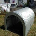 Top of the range deluxe corrugated iron dog kennel,if you want the best for your furry family member well this is it.