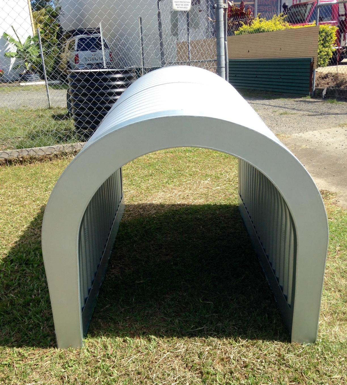 Corrugated Iron Dog Kennel
